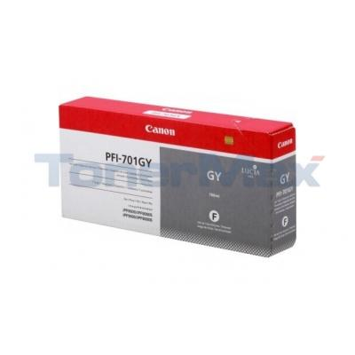 CANON PFI-701GY INK GRAY 700ML